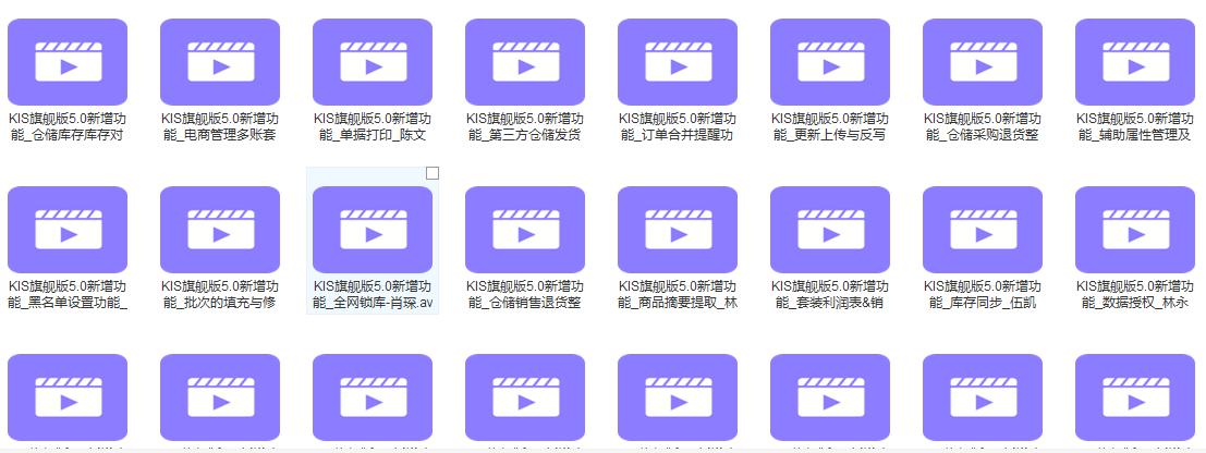 KIS旗舰版V5.0全套培训视频