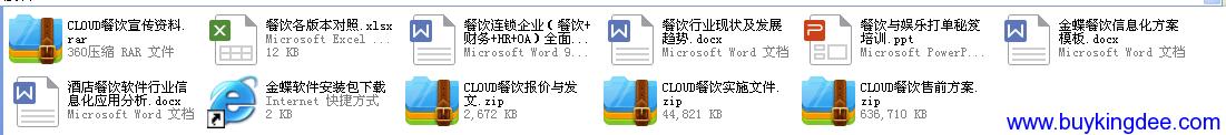 金蝶K3cloud餐饮资料大全